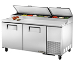 "True TPP-67 67.25"" Pizza Prep Table w/ Refrigerated Base, 115v"