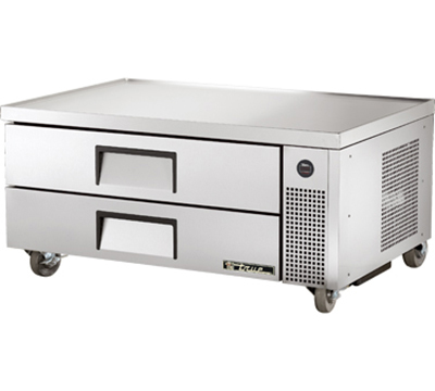 "True TRCB-52 52"" Chef Base w/ (2) Drawers - 115v"