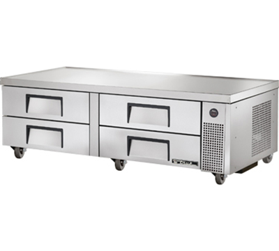 "True TRCB-72 72.38"" Chef Base w/ (4) Drawers - 115v"