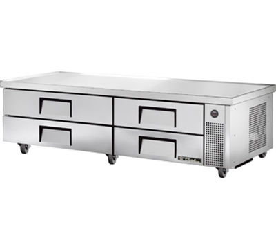"True TRCB-82-84 84"" Chef Base w/ (4) Drawers - 115v"