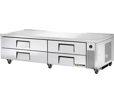 "True TRCB-82 82"" Chef Base w/ (4) Drawers - 115v"