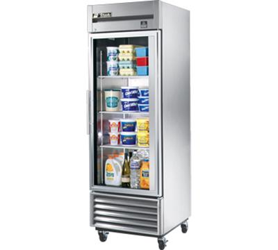 """True TS-23G 27"""" Single Section Reach-In Refrigerator, (1) Glass Door, 115v"""