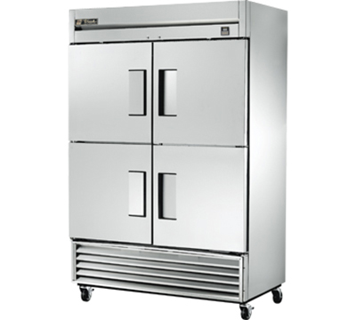"""True TS-49-4 54"""" Two Section Reach-In Refrigerator, (4) Solid Door, 115v"""