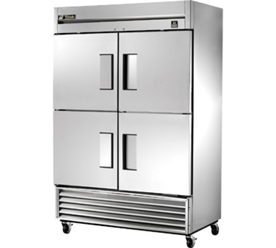"""True TS-49F-4 54.13"""" Two Section Reach-In Freezer, (4) Solid Doors, 115v"""