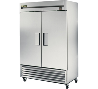 "True TS-49F 54.13"" Two Section Reach-In Freezer, (2) Solid Doors, 115v"