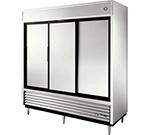 """True TSD-69 78"""" Three Section Reach-In Refrigerator, (3) Solid Door, 115v"""