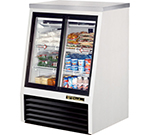 "True TSID-36-4 36"" Self Service Deli Case w/ Straight Glass - (3) Levels, 115v"