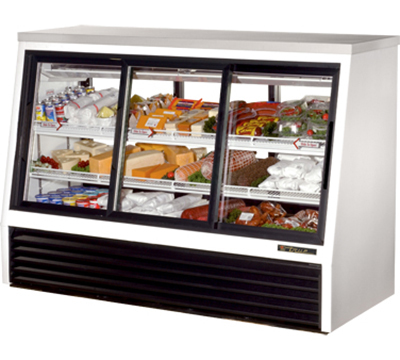"True TSID-72-6 72"" Self Service Deli Case w/ Straight Glass - (3) Levels, 115v"
