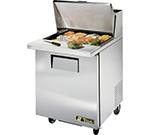 """True TSSU-27-12M-B 27"""" Sandwich/Salad Prep Table w/ Refrigerated Base, 115v"""