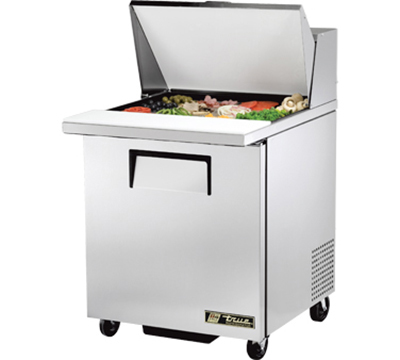 "True TSSU-27-12M-C 27"" Sandwich/Salad Prep Table w/ Refrigerated Base, 115v"