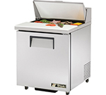 "True TSSU-27-8-ADA 27.63"" Sandwich/Salad Prep Table w/ Refrigerated Base, 115v"