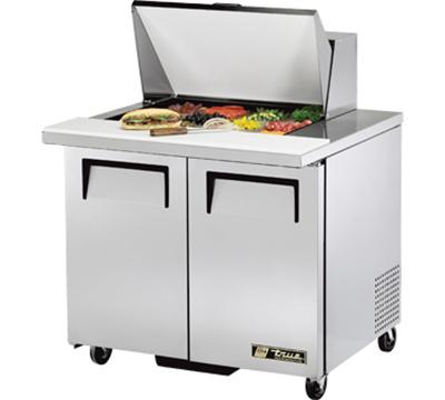 """True TSSU-36-12M-B 36.38"""" Sandwich/Salad Prep Table w/ Refrigerated Base, 115v"""