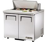 "True TSSU-36-8-ADA 36"" Sandwich/Salad Prep Table w/ Refrigerated Base, 115v"