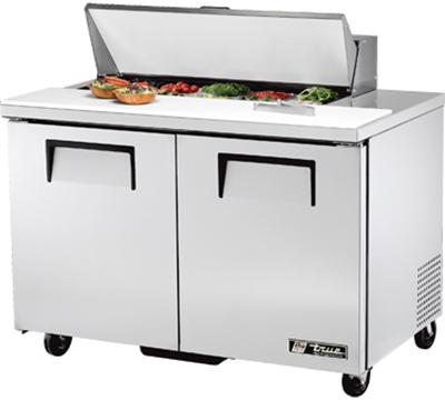"""True TSSU-48-10 48"""" Sandwich/Salad Prep Table w/ Refrigerated Base, 115v"""
