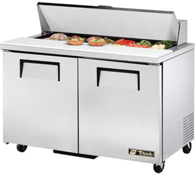 """True TSSU-48-12 48"""" Sandwich/Salad Prep Table w/ Refrigerated Base, 115v"""