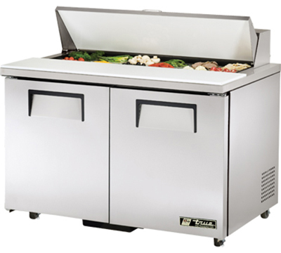 "True TSSU-48-12-ADA 48"" Sandwich/Salad Prep Table w/ Refrigerated Base, 115v"