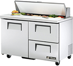 "True TSSU-48-12D-2 48"" Sandwich/Salad Prep Table w/ Refrigerated Base, 115v"
