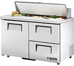 "True TSSU-48-12D-2-ADA 48"" Sandwich/Salad Prep Table w/ Refrigerated Base, 115v"