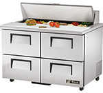 "True TSSU-48-12D-4ADA 48.38"" Sandwich/Salad Prep Table w/ Refrigerated Base, 115v"
