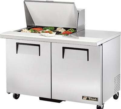 """True TSSU-48-12M-B 48"""" Sandwich/Salad Prep Table w/ Refrigerated Base, 115v"""
