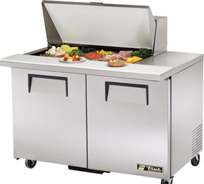 """True TSSU-48-15M-B 48"""" Sandwich/Salad Prep Table w/ Refrigerated Base, 115v"""