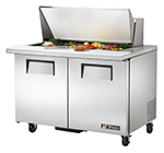 "True TSSU-48-18M-B 48.38"" Sandwich/Salad Prep Table w/ Refrigerated Base, 115v"