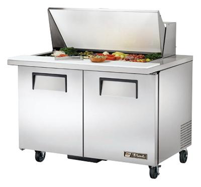 """True TSSU-48-18M-B 48.38"""" Sandwich/Salad Prep Table w/ Refrigerated Base, 115v"""
