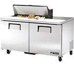 """True TSSU-60-10 60"""" Sandwich/Salad Prep Table w/ Refrigerated Base, 115v"""