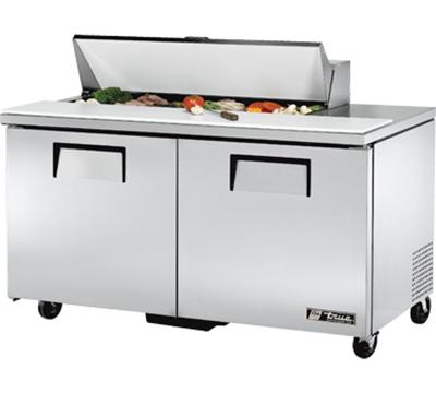 """True TSSU-60-12 60"""" Sandwich/Salad Prep Table w/ Refrigerated Base, 115v"""