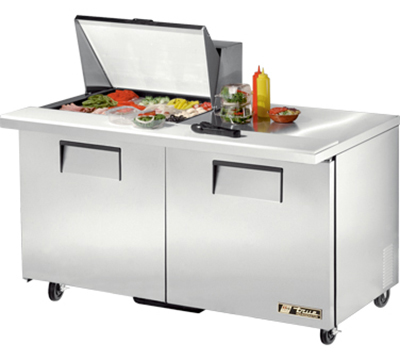 """True TSSU-60-12M-B 60.38"""" Sandwich/Salad Prep Table w/ Refrigerated Base, 115v"""
