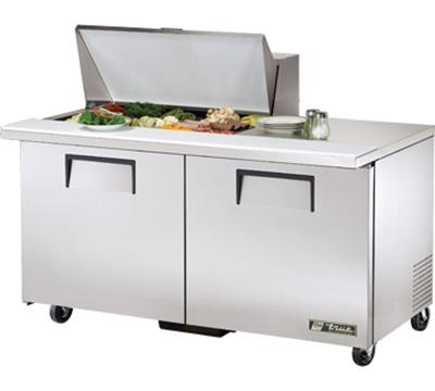 """True TSSU-60-15M-B 60.38"""" Sandwich/Salad Prep Table w/ Refrigerated Base, 115v"""