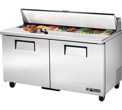 """True TSSU-60-16 60"""" Sandwich/Salad Prep Table w/ Refrigerated Base, 115v"""