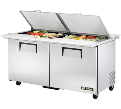 "True TSSU-60-24M-B-DS-ST 60"" Sandwich/Salad Prep Table w/ Refrigerated Base, 115v"