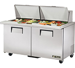 "True TSSU-60-24M-B-ST 60"" Sandwich/Salad Prep Table w/ Refrigerated Base, 115v"