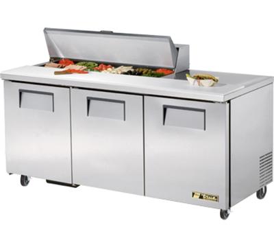 """True TSSU-72-12 72"""" Sandwich/Salad Prep Table w/ Refrigerated Base, 115v"""