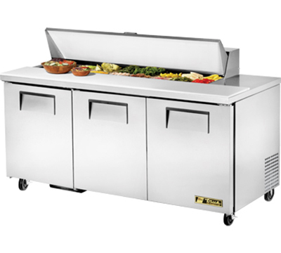 "True TSSU-72-16 72.38"" Sandwich/Salad Prep Table w/ Refrigerated Base, 115v"