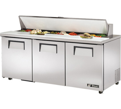 "True TSSU-72-18-ADA 72.38"" Sandwich/Salad Prep Table w/ Refrigerated Base, 115v"