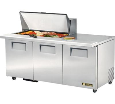 """True TSSU-72-18M-B 72"""" Sandwich/Salad Prep Table w/ Refrigerated Base, 115v"""