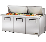 "True TSSU-7230MBSTADA 72"" Sandwich/Salad Prep Table w/ Refrigerated Base, 115v"