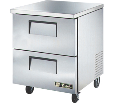 True TUC-27F-D-2 6.5-cu ft Undercounter Freezer w/ (1) Section & (2) Drawers, 115v