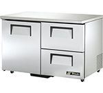 True TUC-48D-2-ADA 12-cu ft Undercounter Refrigerator w/ (2) Sections, (2) Drawers & (1) Door, 115v