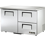 True TUC-48D-2-LP 12-cu ft Undercounter Refrigerator w/ (2) Sections, (2) Drawers & (1) Door, 115v