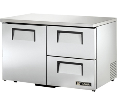 True TUC-48D-2-LP 12-cu ft Undercounter Refrigerator w/ (2) Sections, (2) Drawers & (1) Door, 115v