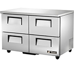 True TUC-48D-4 12-cu ft Undercounter Refrigerator w/ (2) Sections & (4) Drawers, 115v