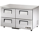 True TUC-48D-4-ADA 12-cu ft Undercounter Refrigerator w/ (2) Sections & (4) Drawers, 115v