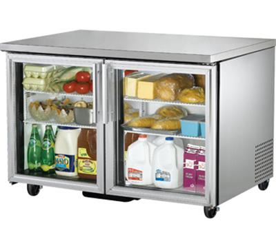 True TUC-48G 12-cu ft Undercounter Refrigerator w/ (2) Sections & (2) Doors, 115v