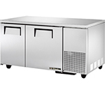 True TUC-60-32 15.5-cu ft Undercounter Refrigerator w/ (2) Sections & (2) Doors, 115v