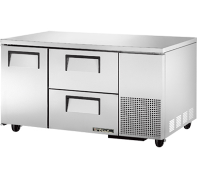 True TUC-60-32D-2 15.9-cu ft Undercounter Refrigerator w/ (2) Sections, (2) Drawers & (1) Door, 115v