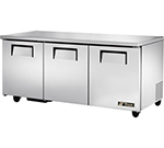 True TUC-72 19-cu ft Undercounter Refrigerator w/ (3) Sections & (3) Doors, 115v