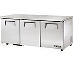 True TUC-72-ADA 19-cu ft Undercounter Refrigerator w/ (3) Sections & (3) Doors, 115v